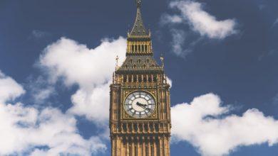 orario in Inghilterra